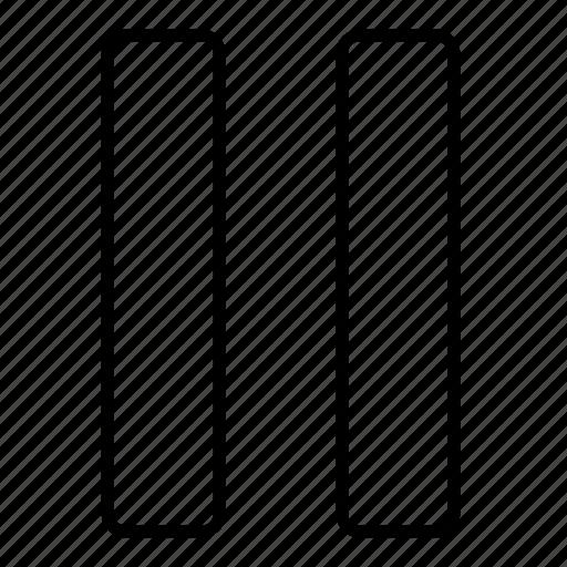 minimalist, multimedia, music, pause, ui icon