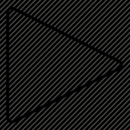 arrow, miltimedia, minimalist, music, play, ui icon