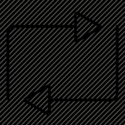 minimalist, multimedia, music, repeat, ui icon