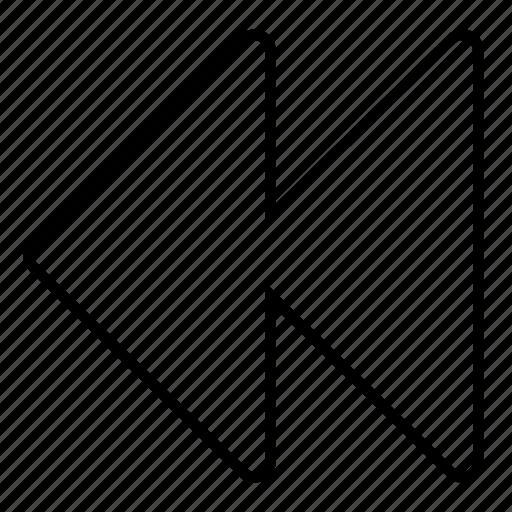 minimalist, multimedia, music, rewind, ui icon