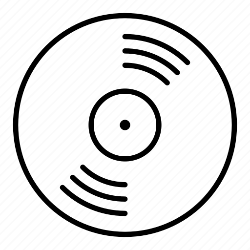 dj, minimalist, music, record, scratching, vinyl icon