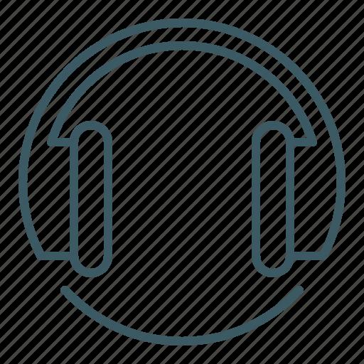 audio, headphones, music, player, sound icon