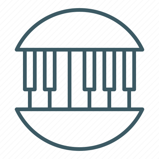 instrument, music, musician, piano icon