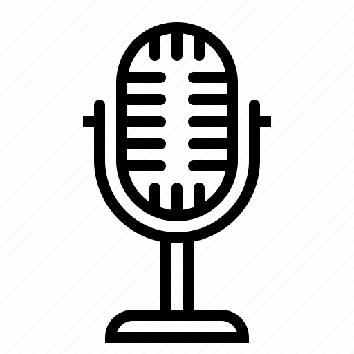 amplification, amplify, mic, microphone, vintage, voice icon