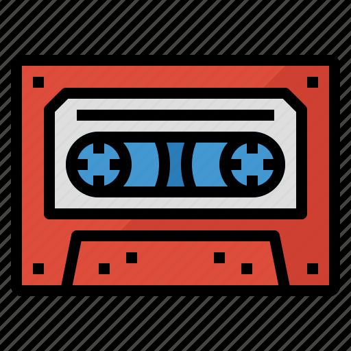 cassette, music, retro, song, tape icon
