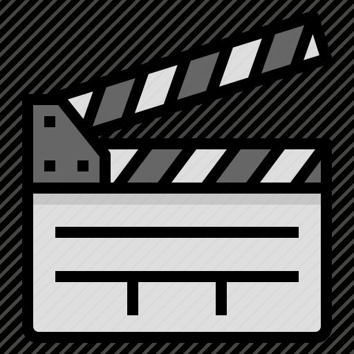 clapperboard, entertain, film, movie icon