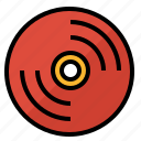 disc, music, note, song, vinyl icon