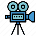 camera, film, movie, player, video icon