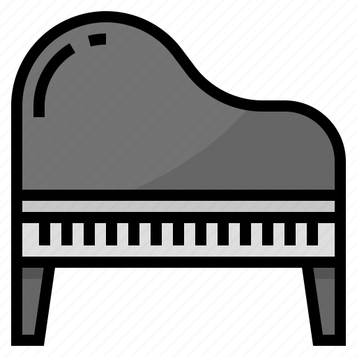 instruments, music, orchestra, piano icon