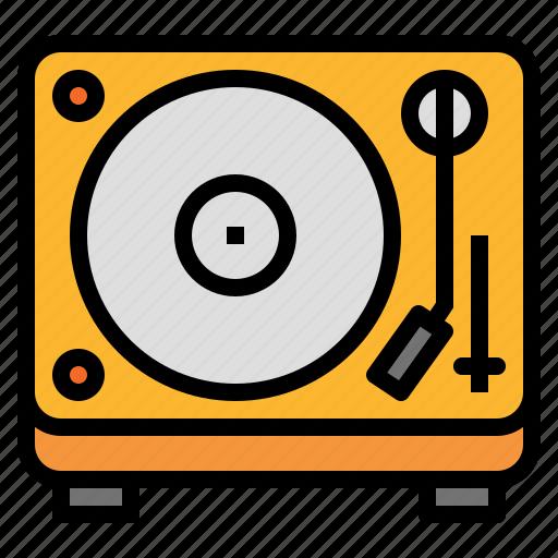 music, player, record, turntable, vinyl icon