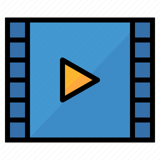 entertainment, movie, player, video icon