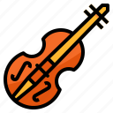 instruments, music, orchestra, violin icon