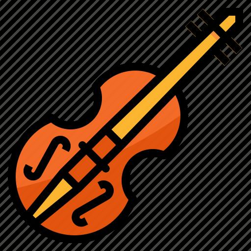 instruments, music, orchestra, violin icon