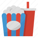 cinema, entertainment, film, movie, popcorn icon