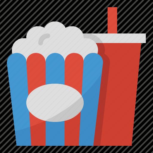 cinema, entertainment, film, movie, popcorn icon
