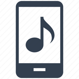 app, mp3, multimedia, music, musical, note, phone, ringtone, smartphone, tone icon