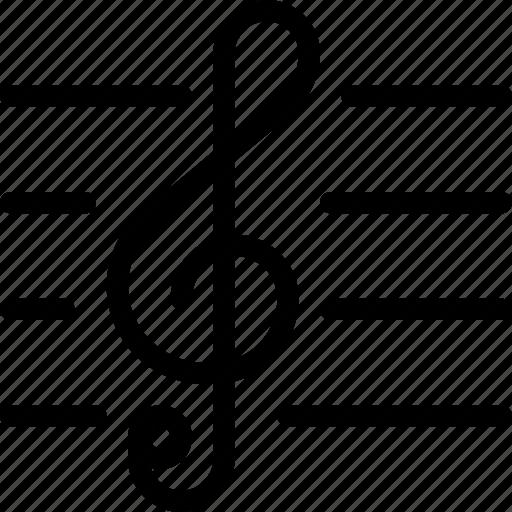 treble clef music sheet