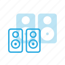audio, music, sound, speaker, stereo, volume icon
