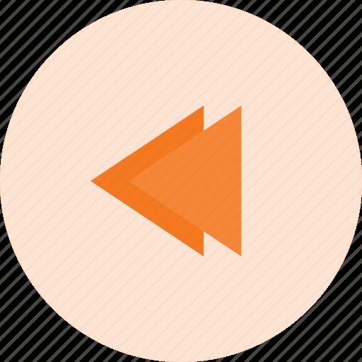 backward, interface, music icon