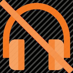 headphone, headset, music, mute, sound, speaker icon