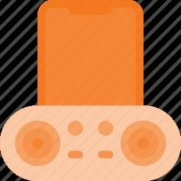 dock, plug, smartphone, sound icon