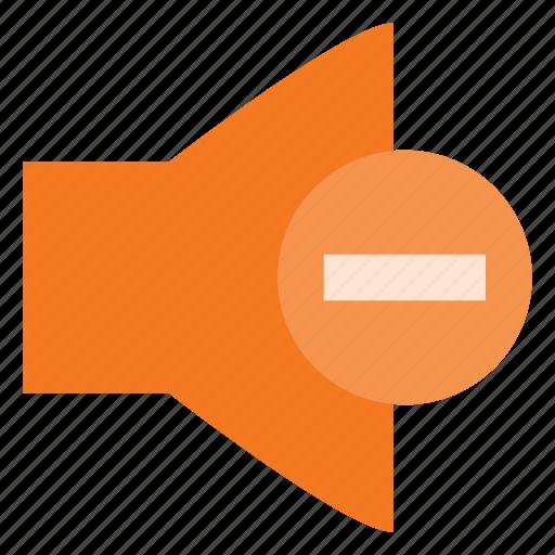 down, level, sound, speaker, volume icon