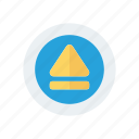 chevron, music, player icon