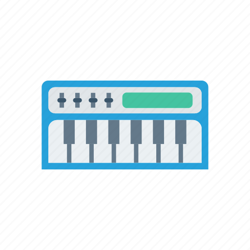 instrument, keys, piano, tiles icon