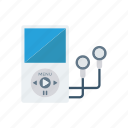 earphone, mp3, music, song icon