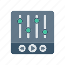 adjustment, control, music, player icon