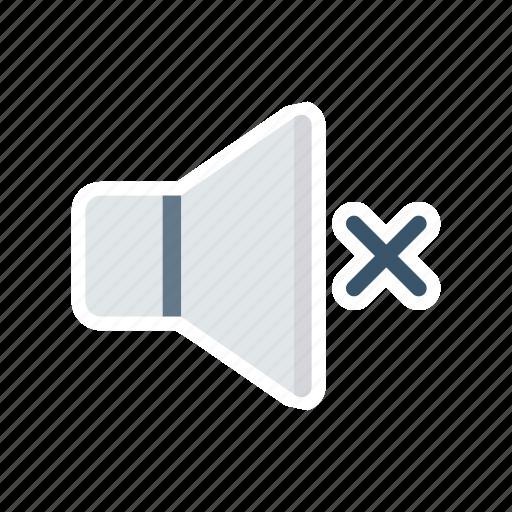 down, mute, silent, volume icon