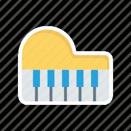 instrument, music, piano, tiles icon