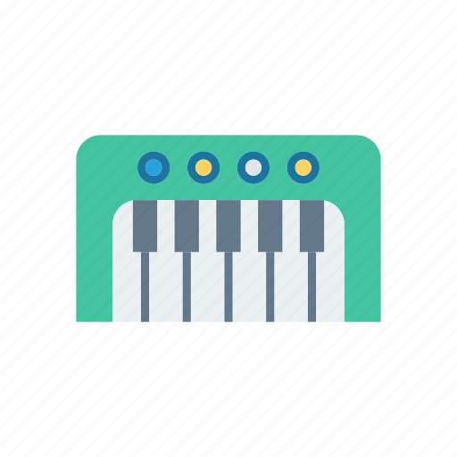 keys, music, piano, tiles icon