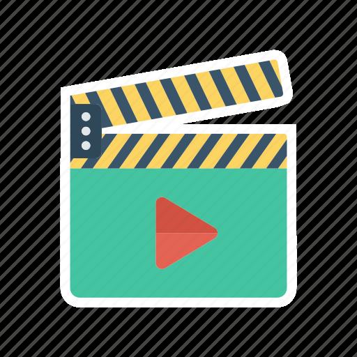 board, cinema, movie, play icon
