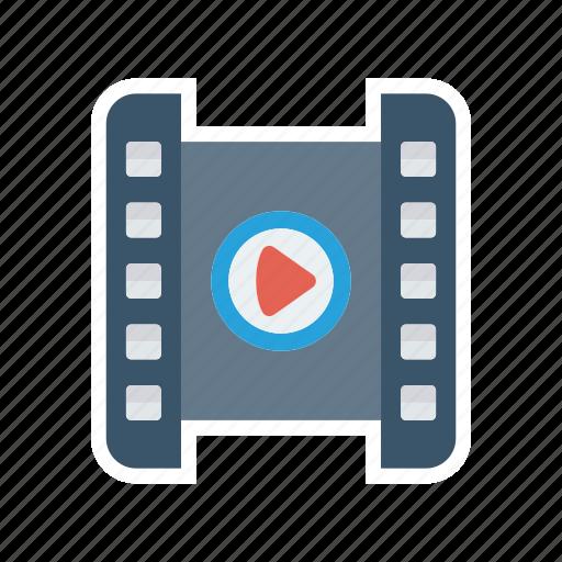 movie, player, playlist, video icon