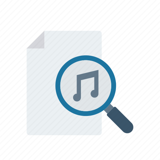 file, melody, music, search icon