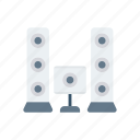 music, sound, speaker, woofer icon