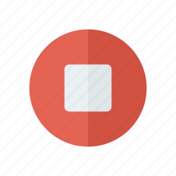 music, player, stop icon