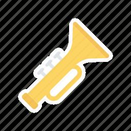 instrument, music, trumpet, wind icon