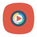 music, player, video icon