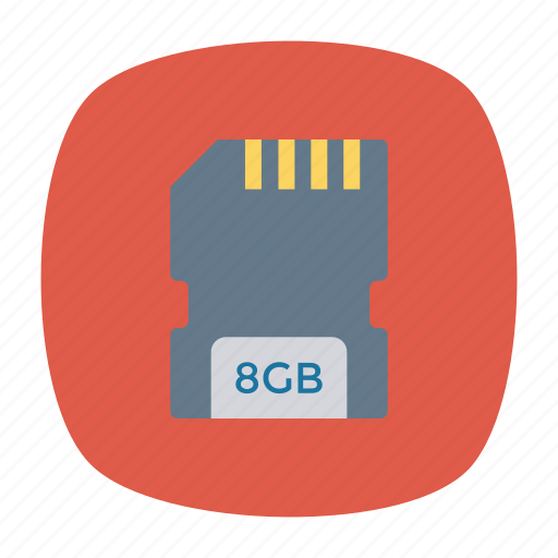 card, chip, sd, storage icon