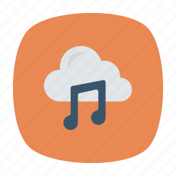 cloud, melody, music, song icon