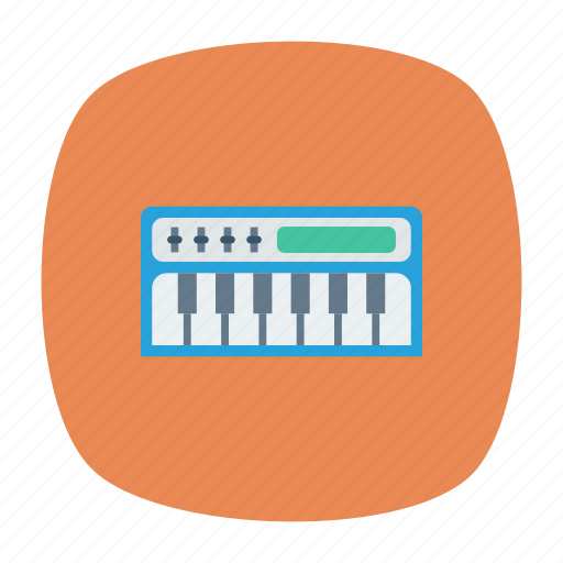 instrument, keys, piano, tiles icon