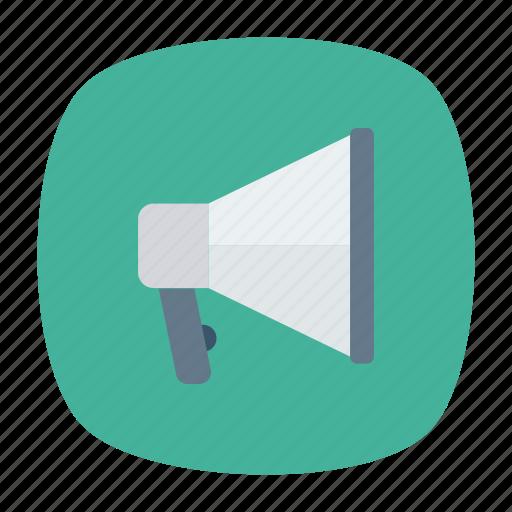 advertisement, loud, megaphone, speaker icon