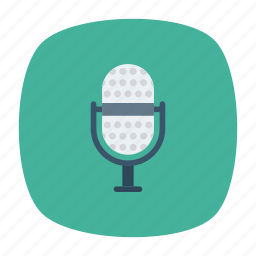 audio, mic, mike, voice icon