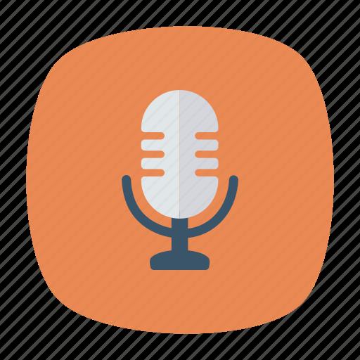 audio, mic, mike, speaker icon