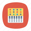 instrument, music, piano, tiles icon