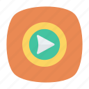 play, song, video icon