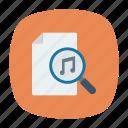 file, melody, music, search