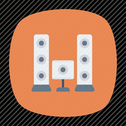 music, sound, speaker, woofer icon